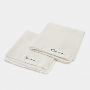 "12"" Square White Microfiber Cloths"